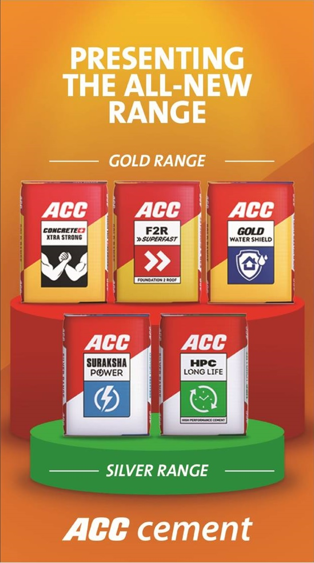 Gold and Silver Range of Cement by ACC Limited | Cement Manufacturer